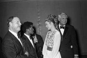 Don Rickles, Sammy Davis Jr., Grace Kelly and Cary Grant at Frank Sinatra
