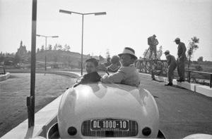 Frank Sinatra with his son, Frank Sinatra Jr., at Disneylandcirca 1950s© 1978 Bernie Abramson - Image 0337_2680