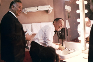 Frank Sinatra in his dressing room with Jack Entratter at The Sands hotel in Las Vegas, Nevada 1964 © 1978 Ted Allan - Image 0337_2726