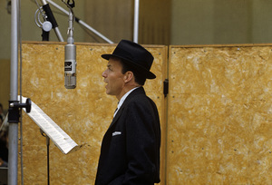 Frank Sinatra at a Capitol Records recording session in Los Angeles circa 1957 © 1978 Sid Avery** R.A.C. - Image 0337_2754