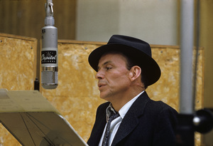 Frank Sinatra at a Capitol Records recording session in Los Angeles circa 1957 © 1978 Sid Avery** R.A.C. - Image 0337_2759