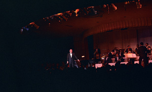 Frank Sinatra performing at the Sands Hotel with Qunicy Jones and the Count Basie orchestracirca 1964© 1978 Ted Allan - Image 0337_2798