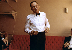 Frank Sinatra in his dressing room at The Sands hotel in Las Vegas, Nevada 1964 © 1978 Ted Allan - Image 0337_2800