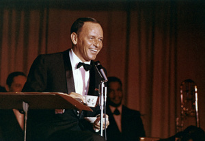 Frank Sinatra performing at The Sands hotel in Las Vegas, Nevada 1964 © 1978 Ted Allan - Image 0337_2801