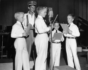 Frank Sinatra at a CBS session with Bing Crosby