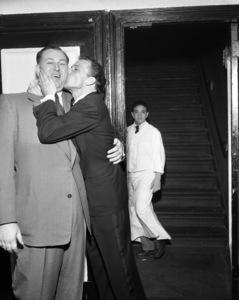 Frank Sinatra and Jack Entratter circa 1947 © 1978 Barry Kramer