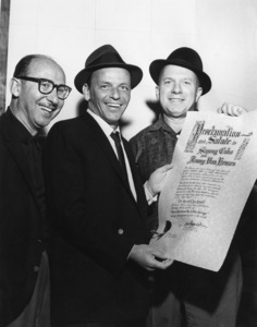 Frank Sinatra with Jimmy Van Heusen and Sammy Cahncirca 1960** A.H. - Image 0337_2885