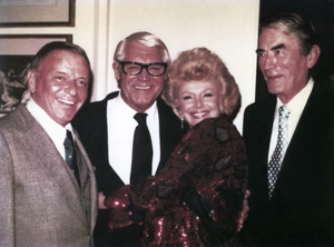 Frank Sinatra with his wife Barbra Marx Sinatra, Cary Grant, and Gregory Peckcirca 1980s** A.H. - Image 0337_2889