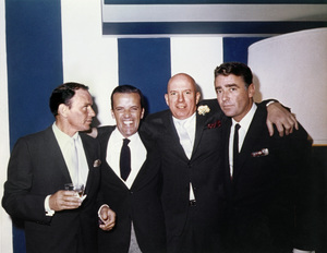 Frank Sinatra, Jimmy Van Heusen and Peter Lawford at Sammy Davis Jr.