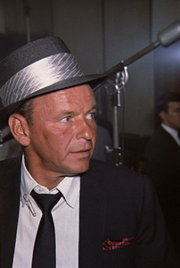 Frank Sinatra at a recording session1964© 1978 Ed Thrasher - Image 0337_3001