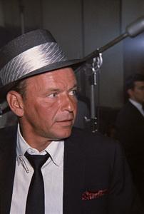 Frank Sinatra at a recording session1964© 1978 Ed Thrasher - Image 0337_3001