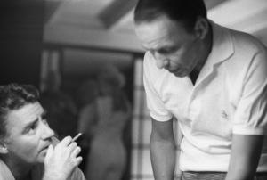 Frank Sinatra with Peter Lawford in Santa Monica, California circa 1960 © 1978 Bernie Abramson - Image 0337_3002