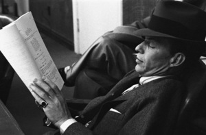 """Frank Sinatra at the script read-through for """"The Man with the Golden Arm""""1955© 1978 Bob Willoughby - Image 0337_3004"""