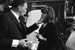 """Frank Sinatra and his daughter Nancy Sinatra on the set of """"Marriage on the Rocks""""1965© 1978 Bob Willoughby - Image 0337_3006"""