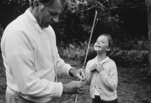Richard Burton with daughter Kate in North Hampton, MA1965 © 1978 Bob Willoughby - Image 0406_0522