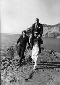 Richard Burton and Noel Coward while on location in Sardinia1967** J.C.C. - Image 0406_0546