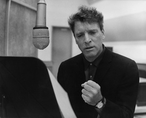 """Burt Lancaster in the studio doing some voiceover work for the film """"The Train""""1964 © 1978 Marv Newton - Image 0415_0188"""