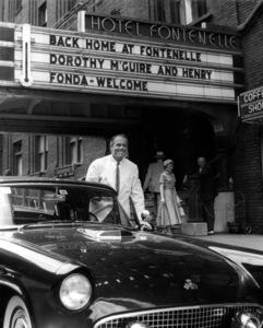 Henry FondaIn front of Hotel Fontenelle, 1955.Copyright John Swope Trust / MPTV - Image 0518_0841