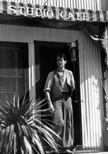 Henry FondaComing out of Studio Cafe, 1938Copyright John Swope Trust / MPTV - Image 0518_0843