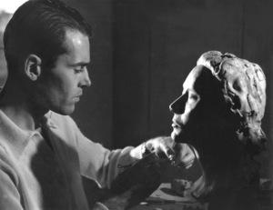 Henry Fonda sculpting a bust of his wife,1938Copyright John Swope Trust / MPTV - Image 0518_0848