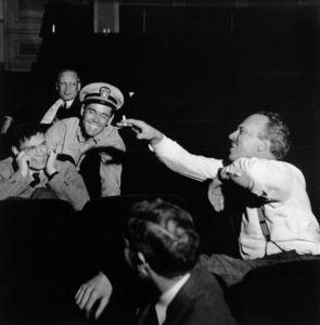 "Henry Fonda with writer Joshua Logan during the filming of ""Mister Roberts""1955 © 1978 John Swope  - Image 0518_0875"