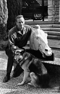 Charlton Heston at home circa 1967 © 1978 David Sutton  - Image 0527_0429