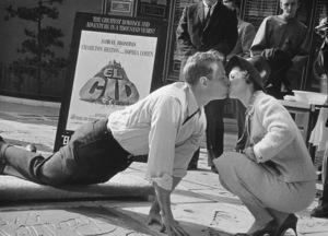 Charlton Heston and wife Lydia, 1961 © 1978 Bud Gray - Image 0527_0442