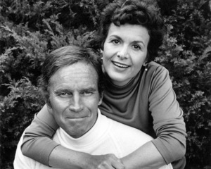 Charlton Heston and wife LydiaAugust, 1974 © 1978 Lou Jacobs Jr. - Image 0527_0451