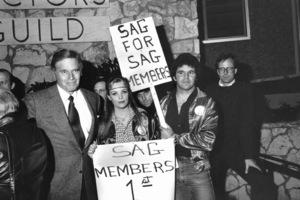 Charlton Heston at a SAG Revolt, 1982 - Image 0527_0462