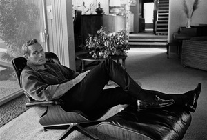 Charlton Heston at home in his Eames Lounge Chair circa 1967 © 1978 David Sutton  - Image 0527_0481