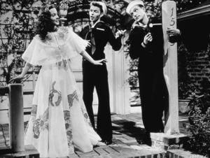 """""""Anchors Aweigh""""Kathryn Grayson, Frank Sinatra, Gene Kelly1945 MGM - Image 0538_0427"""