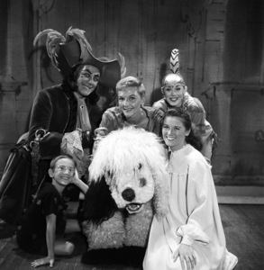 """The cast of """"Peter Pan"""" (clockwise top left: Cyril Ritchard, Mary Martin, Sondra Lee and Kathy Nolan) 1954© 1978 Bob Willoughby - Image 0549_0097"""