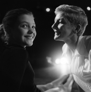 """Mary Martin and daughter Heller Halliday during rehearsals for """"Peter Pan""""1954© 1978 Bob Willoughby - Image 0549_0099"""