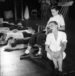 """Mary Martin and Kathy Nolan during rehearsals for """"Peter Pan""""1954© 1978 Bob Willoughby - Image 0549_0100"""