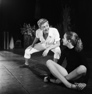 """Mary Martin and daughter Heller Halliday during rehearsals for """"Peter Pan""""1954© 1978 Bob Willoughby - Image 0549_0101"""