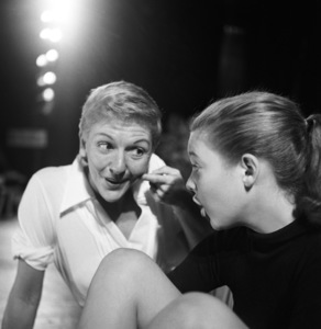 """Mary Martin and daughter Heller Halliday during rehearsals for """"Peter Pan""""1954© 1978 Bob Willoughby - Image 0549_0102"""