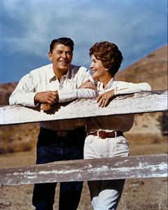 Nancy and Ronald Reagan at Rancho del Cielo circa early 1970s © 1978 John Engstead - Image 0554_0054