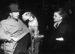 """William Powell, with the dog Asta, and Myrna Loy in """"The Thin Man"""" circa 1934 © 1978 Ted Allan - Image 0561_0226"""