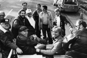 """""""Oh, God!""""Director Carl Reiner, John Denver1977© 1978 David Sutton - Image 0565_0027"""