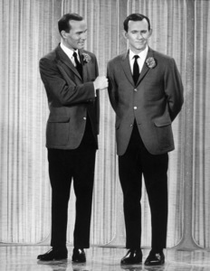 Smothers Brothers Dick and Tom at a T.V. Taping, 1967 © 1978 Chester Maydole - Image 0572_0123