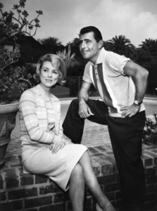 Rod Serling and Inger Stevens at Serling