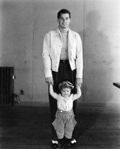 """Johnny Weissmuller with George """"Spanky"""" McFarlandCirca 1932 MGM**I.V. - Image 0579_0117"""