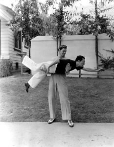 Johnny Weissmuller with Buster KeatonCirca 1932 MGM**I.V. - Image 0579_0118