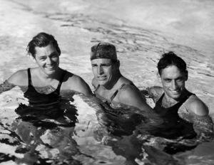 Johnny Weissmuller, Buster Crabbe & Al Swartz Circa 1932 MGM**I.V. - Image 0579_0126
