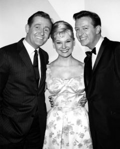 """""""Mister Ed"""" Connie Hines, Alan Young circa 1963 Photo by Gabi Rona - Image 0582_0209"""