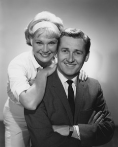 """""""Mister Ed"""" Connie Hines, Alan Young circa 1963 Photo by Gabi Rona - Image 0582_0215"""