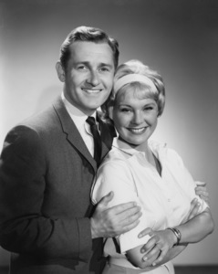 """""""Mister Ed"""" Connie Hines, Alan Young circa 1963 Photo by Gabi Rona - Image 0582_0217"""