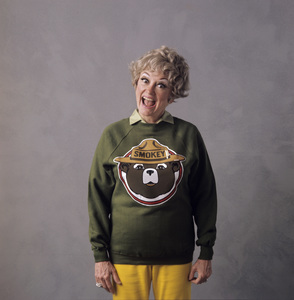 Phyllis Diller for a Smokey the Bear advertisement1972 © 1978 Sid Avery - Image 0599_0095