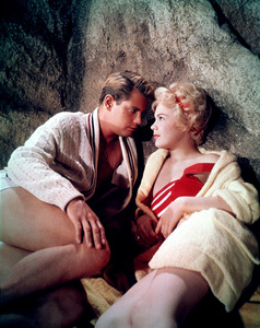 """Troy Donahue and Sandra Dee in""""Summer Place""""1959 Warner - Image 0600_0001"""