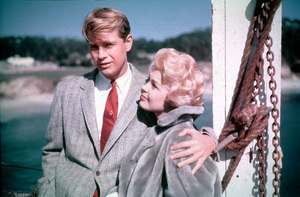 """Troy Donahue and Sandra Dee in""""Summer Place""""1959 Warner - Image 0600_0002"""